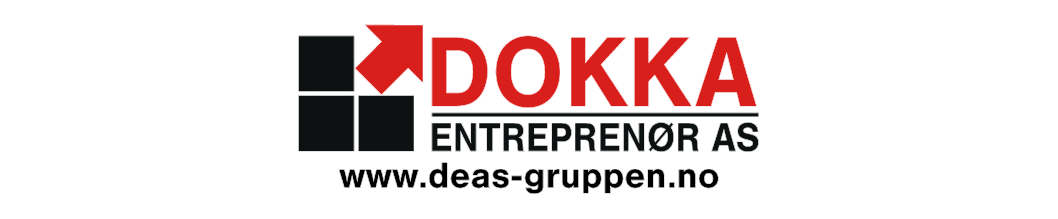 Dokka Entreprenor AS - logo forside-glod